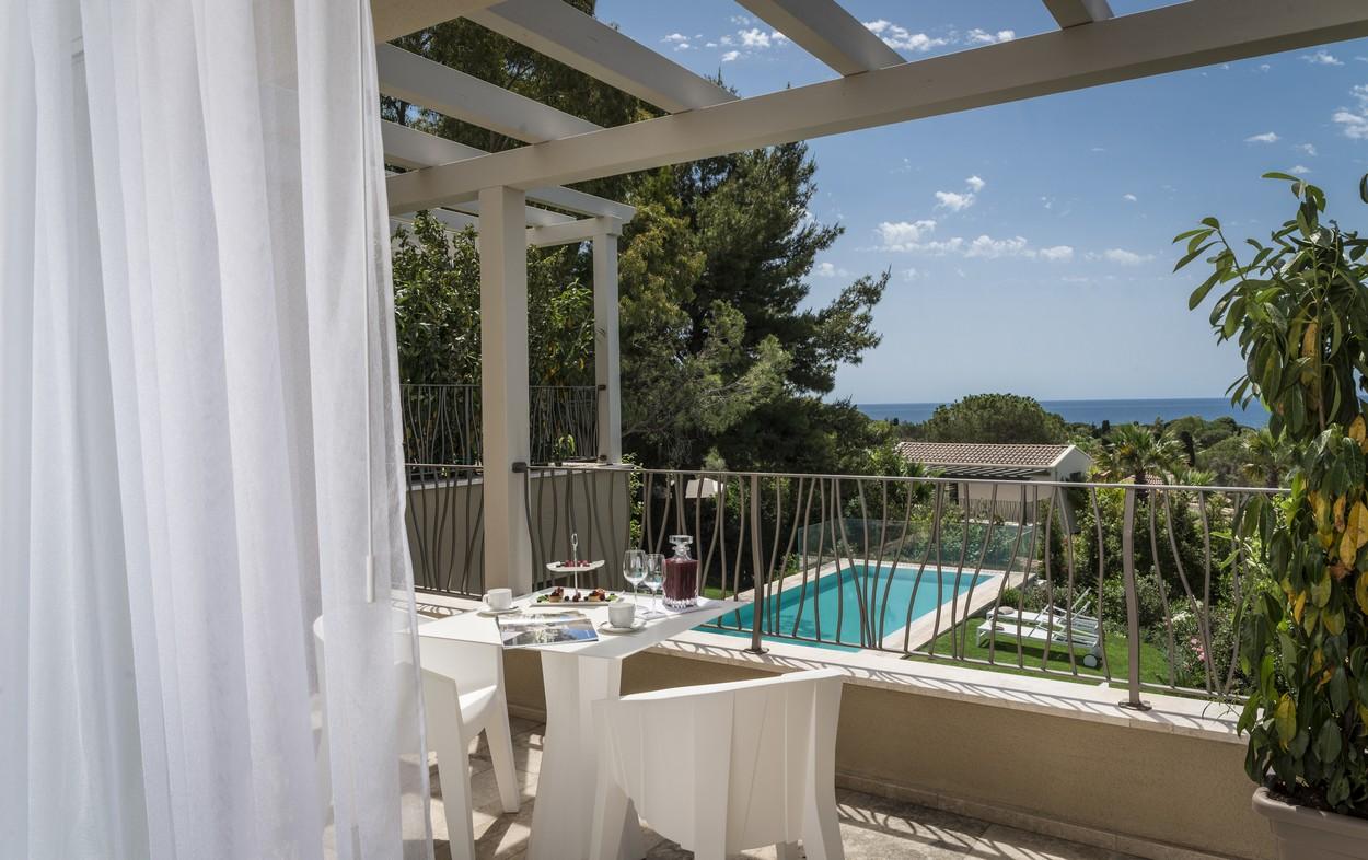 Vista mare della villa Margherita